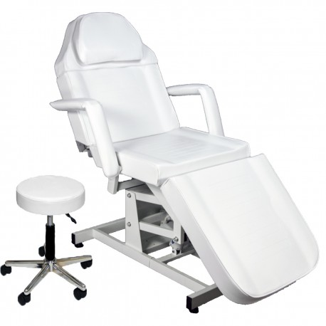 Electric height adjustable facial bed