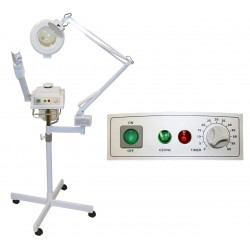 2 in 1 steamer and magnifying lamp