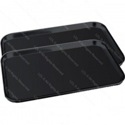 Black work trays