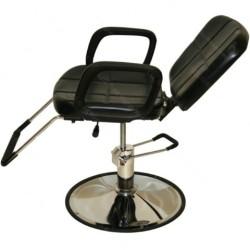 Chaise de coiffure inclinable noire