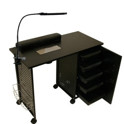 Vented manicure table